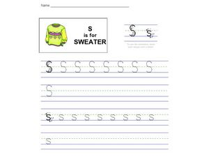 S is for Sweater Worksheet
