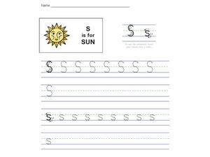 S Is For Sun Worksheet