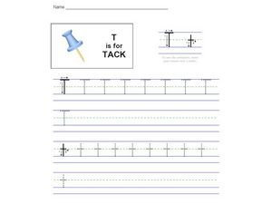T Is For Tack Worksheet