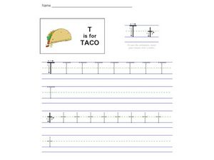T is for Taco Worksheet