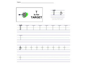T Is For Target Worksheet