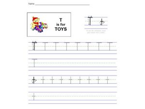 T is for Toys Worksheet