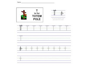 T Is For Totem Pole Worksheet
