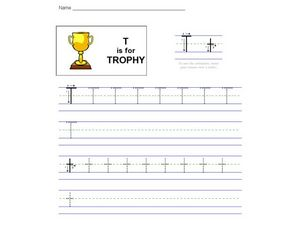 T Is For Trophy Worksheet