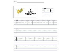 T Is For Trumpet Worksheet