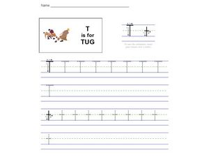 T is for Tug Worksheet