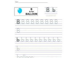B is for Balloon Worksheet