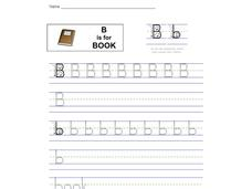 B is for Book: Bb Worksheet