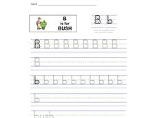 B is for Bush: Letter Bb Worksheet