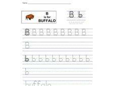 B is for Buffalo: Letter Bb Worksheet