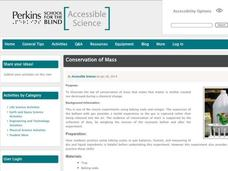 Conservation of Mass Activities & Project