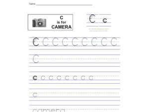 Handwriting: C is for Camera Worksheet