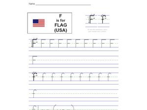 F Is For Flag (USA) Worksheet