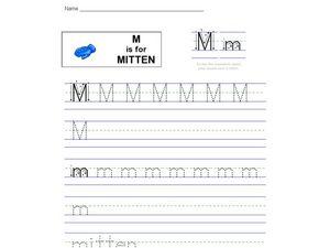 M Is For Mitten Worksheet
