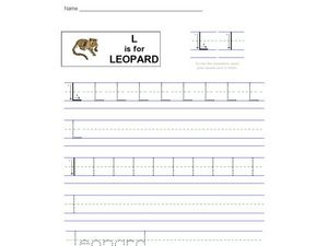 L is for Leopard Worksheet