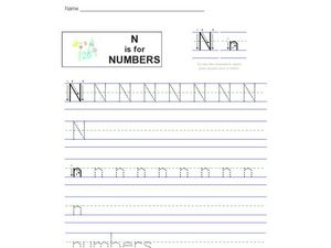 N is for Numbers Worksheet