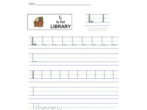 L Is For Library Worksheet