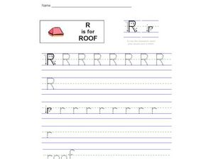 R is for Roof Worksheet