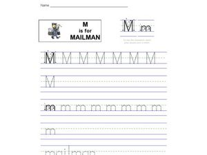 M Is For Mailman Worksheet
