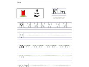 M is for Mat Worksheet