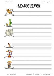 Adjectives and Writing Worksheet