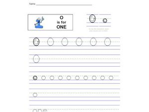 O is for One Worksheet