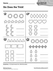 Six Does The Trick! Worksheet