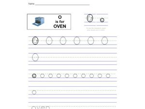 O Is For Oven Worksheet