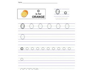 O Is For Orange Worksheet
