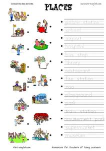 esl vocabulary places worksheet for 2nd 3rd grade lesson planet. Black Bedroom Furniture Sets. Home Design Ideas