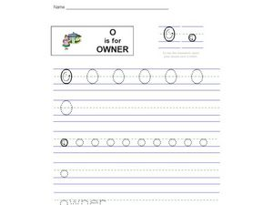 O Is For Owner Worksheet