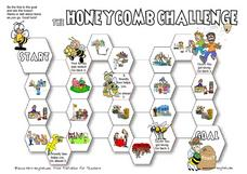 The Honeycomb Challenge: Places Worksheet