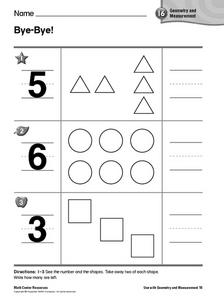 Bye-Bye! Subtraction Worksheet