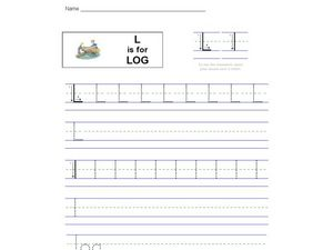 Handwriting: L is for Log Worksheet