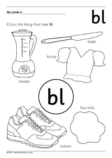 Consonant Blends Worksheet for 1st Grade | Lesson Planet