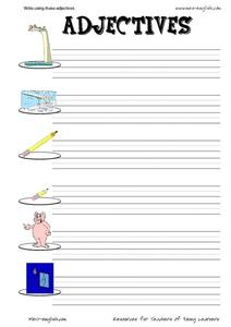ESL Vocabulary and Writing: Adjectives Worksheet