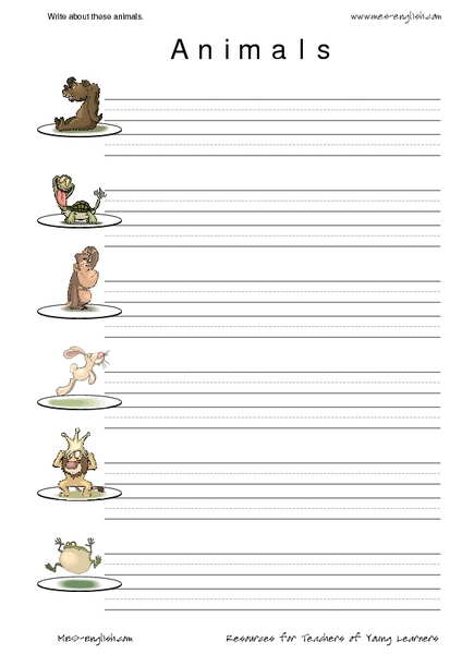 esl vocabulary and writing animals worksheet for 2nd 3rd grade lesson planet. Black Bedroom Furniture Sets. Home Design Ideas
