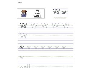 W is for Well Worksheet