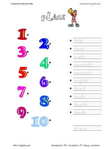 ESL Vocabulary Connect the Dots: Place Worksheet