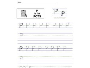 P is for Pots Worksheet