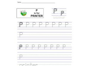 P is for Printer Worksheet