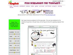 ESL Grammar: Past Tense Worksheet