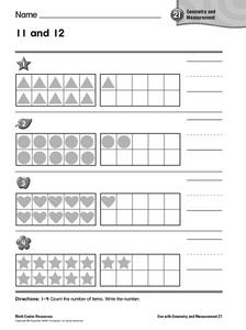11 And 12 Geometry and Measurement Worksheet