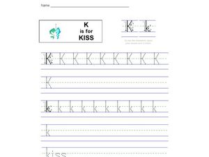 K Is For Kiss Worksheet