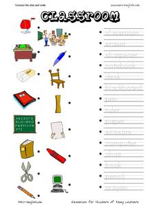 Connect the Dots and Write: Classroom Worksheet