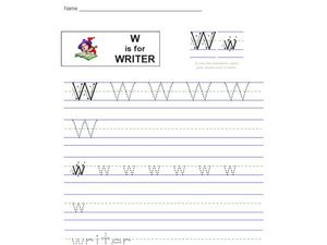 W Is For Writer Worksheet
