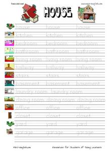 Trace and Read: House Worksheet