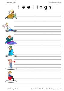 Write About These Feelings Worksheet