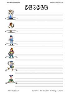 Write About These People Worksheet