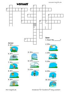 Weather Crossword Puzzle Worksheet
